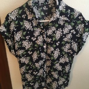 Tops - Floral Button Down